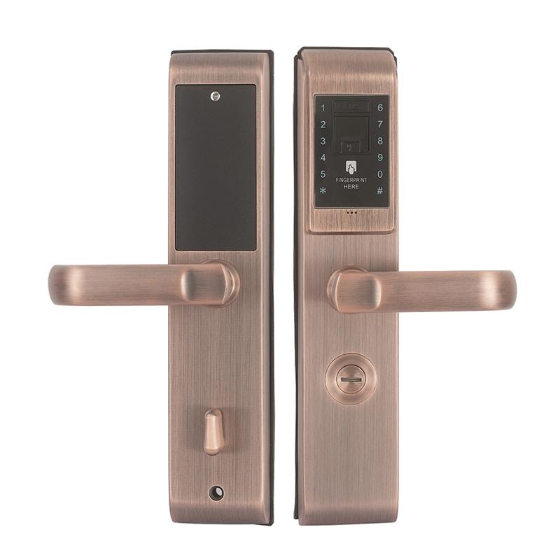 指纹密码锁01红古铜