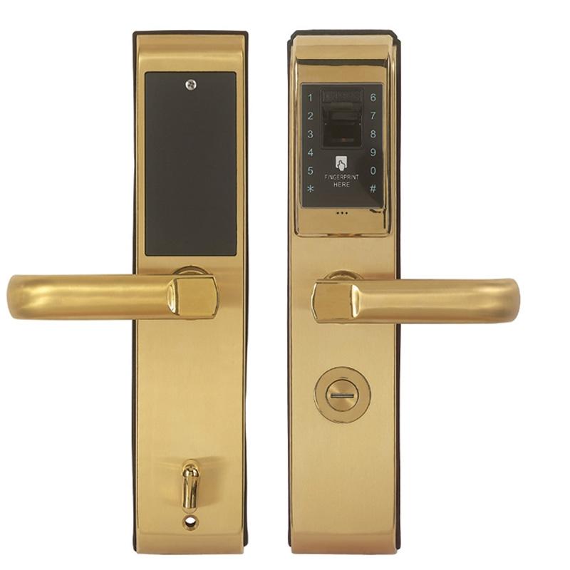 指纹密码锁01金色