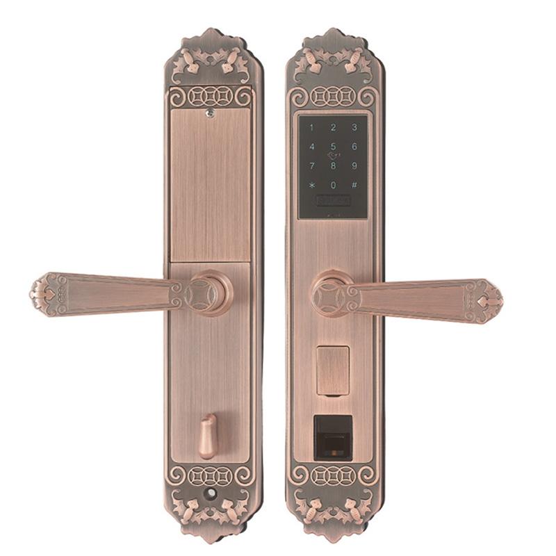 指纹密码锁02红古铜