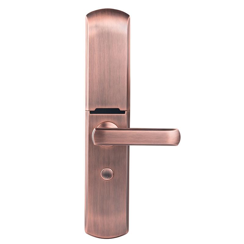 GD  X6滑盖半导体指纹锁红古铜